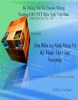 Tìm hiểu an ninh mạng và kỹ thuật tấn công scanning
