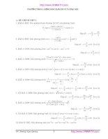 Phương trình lượng giác qua các kỳ thi đại học