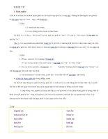 giới từ và liên từ các sử dụng trong tiếng anh