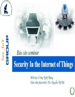 Tổng quan về security in the internet  of things