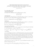 Một số phương pháp giải các bải toán liên quan đến đường phân giác trong tam giác