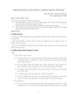 Tổng quan về bệnh nhiễm trùng hô hấp - ĐH y Hà Nội