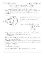 Chuyên đề hình học phẳng: Phương tích- Trục đẳng phương