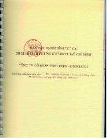 bản cáo bạch niêm yết tại sở giao dịch chứng khoán tp hồ chí minh công ty cổ phần thủy điện điện lực 3 năm 2012