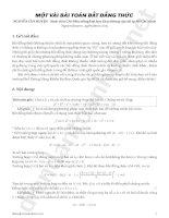 Về một bài toán bất đẳng thức Nguyễn Văn Huyện