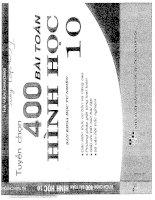 TUYỂN CHỌN 400 bài TOÁN HÌNH học lớp 10