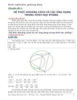 Chuyên đề về khoảng cách và tiếp tuyến trong giải toán hình học