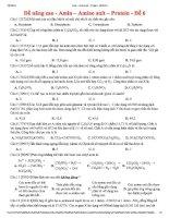amin – amino axit – protein - đề 6