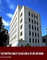 Báo cáo nhà ở tại hà nội và thành phố hồ chí minh năm 2014