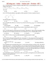 amin – amino axit – protein - đề 1