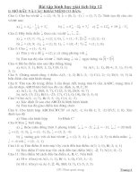 Bài tập hình học giải tích lớp 12