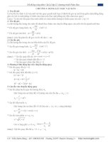 hệ thống công thức cách giải các dạng bài tập vật lý  luyện thi đại học
