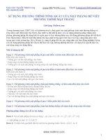 5 dạng bài tập phương trình mặt phẳng và lời giải mẫu