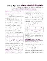 Dùng đạo hàm chứng minh bất đẳng thức (Bài toán trong kì thi Olympic)