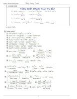 bài tập công thức lượng giác lớp 10 hay