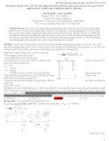 Sử dụng phương pháp véctơ trượt để giải các bài toán điện xoay chiều của thầy Chu Văn Biên