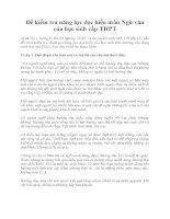 Đề kiểm tra năng lực đọc hiểu môn ngữ văn của học sinh cấp THPT