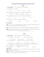 Tuyển tập 60 đề thi học sinh giỏi toán lớp 3 cực hay