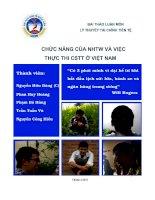 Chức năng của Ngân hàng Trung Ương và việc thực thi chính sách tiền tệ ở Việt Nam