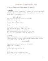 hướng dẫn giải 50 bài tập hóa lớp 9