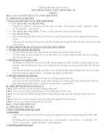 HỆ THỐNG KIẾN THỨC SINH học 10