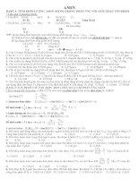Phương pháp giải bài tập AMIN - AMINOAXIT