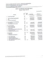công ty cổ phần dệt may đầu tư thương mại thành công bảng cân đối kế toán báo cáo lưu chuyển tiền tệ báo cáo tài chính hợp nhất  quý 4 ngày 31 tháng 12 năm 2012