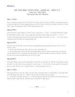 Các đề thi học sinh giỏi môn vật lý lớp 10 (có đáp án chi tiết)
