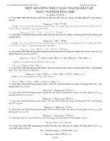 MỘT SỐ CÔNG THỨC GIẢI NHANH BÀI TẬP TRẮC NGHIỆM HÓA HỌC CỦA THẦY VÕ MINH HIỂN