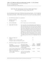 công ty cổ phần kho vận giao nhận ngoại thương tp hồ chí minh thuyết minh báo cáo tài chính hợp nhất năm tài chính kết thúc 31 tháng 3 năm 2012
