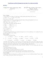 Tuyển tập các đề thi olympic hóa học 10 (có đáp án chi tiết)