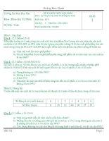 Đề Thi Kết Thúc Học Phần Lý Thuyết Xác Suất Và Thống Kê Toán K18-DTU-GV-Nguyễn Tấn Huy