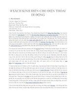Tám Sách kinh điển tiếng Anh dành cho điện thoại di động