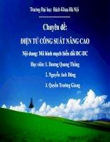 Chuyên đề: ĐIỆN TỬ CÔNG SUẤT NÂNG CAO Mô hình mạch biến đổi DCDC