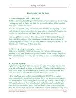 Kinh Nghiệm Làm Bài Toeic Điểm Cao-DTU