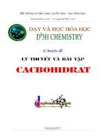 cacbohidrat đầy đủ tất  cả các dạng bài tập công thức