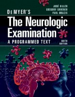 demyer's the neurologic examination a programmed text, 6th edition