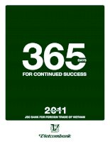 365 days for continued success jsc bank for foreign trade of vietnam vietcombank annual report 2011