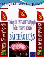 Bài thuyết trình về đường lối cách mạng của đảng cộng sản việt nam 2015