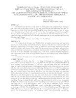 NGHIÊN CỨU LỰA CHỌN CÔNG THỨC TÍNH CHỈ SỐ KHÔ HẠN VÀ ÁP DỤNG VÀO VIỆC TÍNH TOÁN TẦN SUẤT KHÔ HẠN NĂM Ở NINH THUẬN