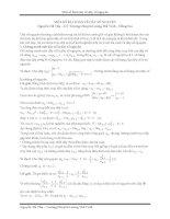 Một số bài toán về dãy số nguyên