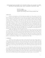 MỘT SỐ KẾT QUẢ NGHIÊN CỨU VỀ THỦY NÔNG CẢI TẠO ĐẤT VÀ MÔI TRƯỜNG Ở VIỆN KHOA HỌC THỦY LỢI MIỀN NAM (1978  2009