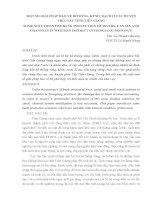 MỘT SỐ GIẢI PHÁP BẢO VỆ BỜ SÔNG, KÊNH, RẠCH Ở CÁC HUYỆN PHÍA TÂY TỈNH TIỀN GIANG