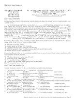 Đề thi HSG Tiếng Anh cấp thành phố lớp 9. Bộ GDĐT TP HCM