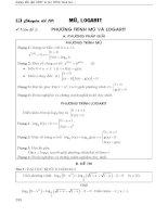 toán ôn thi đại học chuyên đề mũ logarit