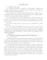 nghiên cứu một số truyện thơ của dân tộc thái ở việt nam có cùng đề tài với truyện thơ nôm dân tộc kinh bản tóm tắt tiếng anh