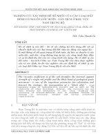 NGHIÊN CỨU XÁC ĐỊNH HỆ SỐ NHỚT CỦA CÁC LOẠI ĐẤT DÍNH CÓ NGUỒN GỐC SƯỜN  TÀN TÍCH Ở KHU VỰC  NAM TRUNG BỘ
