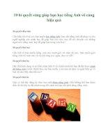 10 bí quyết vàng giúp bạn học tiếng Anh vô cùng hiệu quả