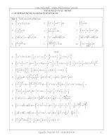 Phân dạng các bài tập tích phân có lời giải chi tiết