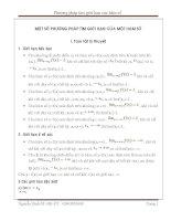 Các phương pháp tìm giới hạn của hàm số của thầy Nguyễn Đình Sỹ